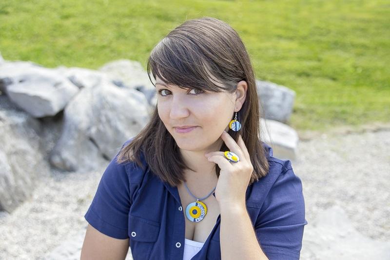 0026 - Vedno trendni mornarski vzorec in kolekcija nakita Blue Summer